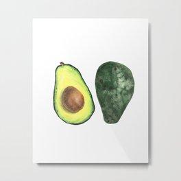 watercolor avocado Metal Print