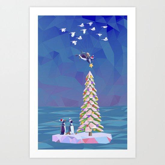 Christmas Flight Art Print