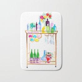 Watercolour Bar Cart Bath Mat