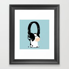 La vache mélomane Framed Art Print