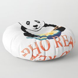 Pho Real Cute Panda Ramen Noodle Bowl graphic Floor Pillow
