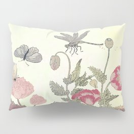 Butterfly and flowers -The Still Point Pillow Sham