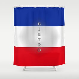 Tricolore Bistro Shower Curtain