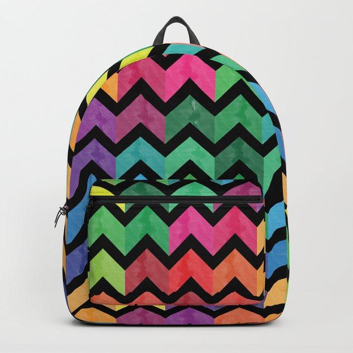 Watercolor Chevron Pattern V Backpack