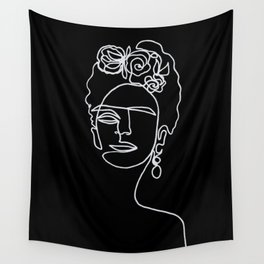 Frida Kahlo BW Wall Tapestry
