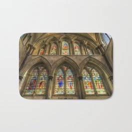 Rochester Cathedral Stained Glass Windows Bath Mat