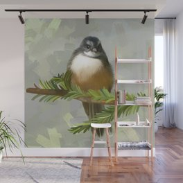 Fantail chick Wall Mural