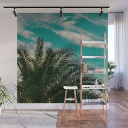 Palms on Turquoise - II Wall Mural