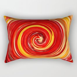 AUTUMN SWIRL - BRIGHT RED AND ORANGE FALL LEAVES Rectangular Pillow