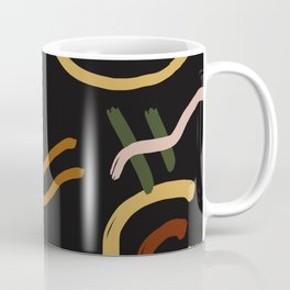Abstraction. Series: Oil Paint Smears. Culinary fantasy.  Breakfast. Coffee Mug