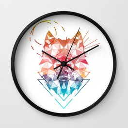 Spirit of the Wolf Wall Clock