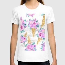Floral Ice Cream 06 T-shirt