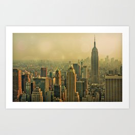 View from Top of the Rock - NYC Art Print