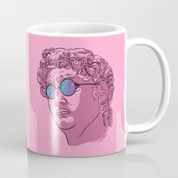 david fleck Mugs featuring David by KODYMASON