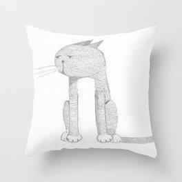 Catmando Throw Pillow