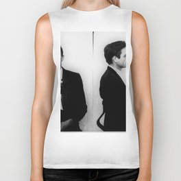 Johnny Cash Mug Shot Horizontal Biker Tank