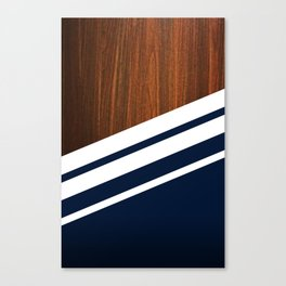 Wooden Navy Canvas Print