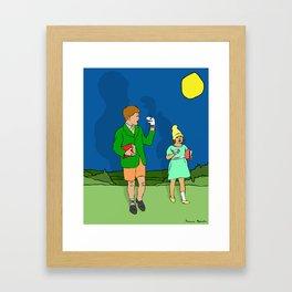 I'm Busy. Framed Art Print