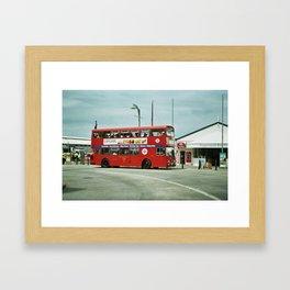 Hop on. Framed Art Print