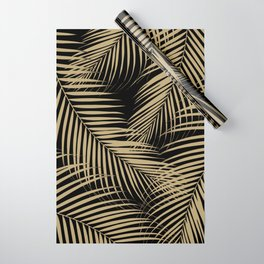 Palm Leaves - Gold Cali Vibes #5 #tropical #decor #art #society6 Wrapping Paper