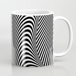 Black and White Pop Art Optical Illusion Lines Coffee Mug
