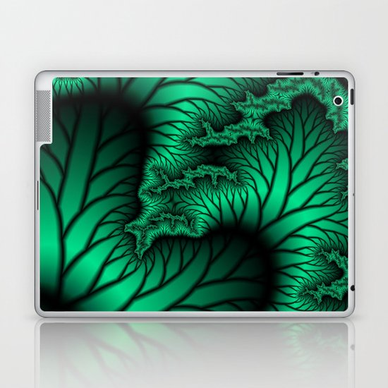 Green and Black fractal  Laptop & iPad Skin