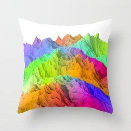 Holopunk Mountains Throw Pillow