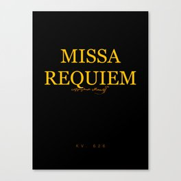 Missa Requiem Canvas Print