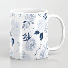 Floral Blossom - Midnight Blue Coffee Mug