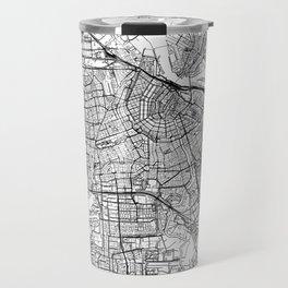 Amsterdam White Map Travel Mug