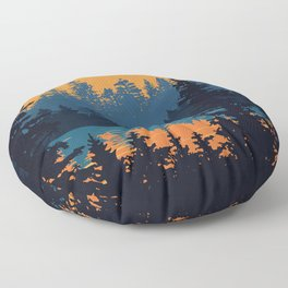 Algonquin Park Poster Floor Pillow