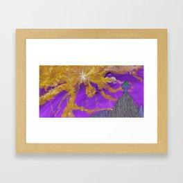Orange Coloured Sky Framed Art Print