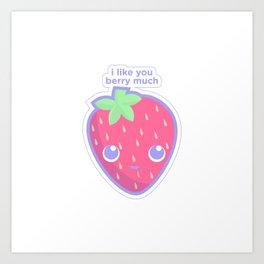 Cute Strawberry Art Print