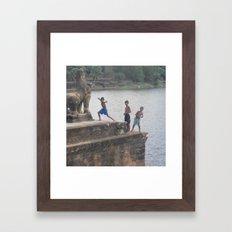 Big Smile Framed Art Print