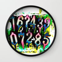 numbers Wall Clocks featuring Numbers! by gasponce
