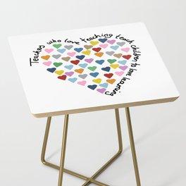 Hearts Heart Teacher Side Table