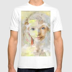 The nice girl MEDIUM Mens Fitted Tee White