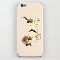 the hound iPhone & iPod Skins featuring Basset Hound by Rebecca Mcmillan