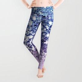 Sparkly Mermaid Blue Purple Lilac Ombre Leggings