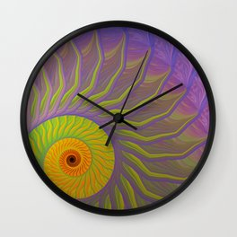 Fantasy Nautilus shell abstract Wall Clock