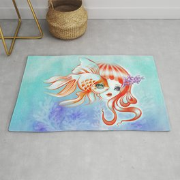 Jellyfish Girl & Goldfish Rug
