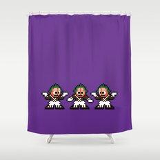 Pixelly Wonka Shower Curtain
