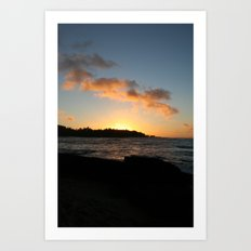 NORTH SHORE SUNSET Art Print
