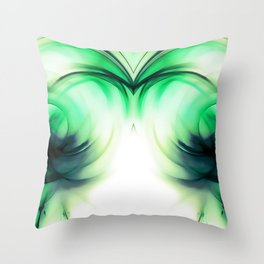 abstract fractals mirrored reacmagi Throw Pillow