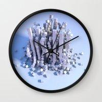 physics Wall Clocks featuring Cube physics  by Adoryanti