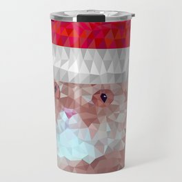 Red cat with christmas hat Travel Mug