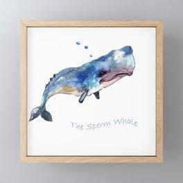 Whale Art Framed Mini Art Print