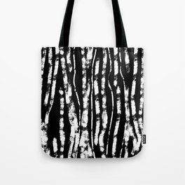 CURVY BIRCH TREE Tote Bag