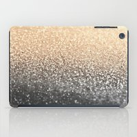 black and gold iPad Cases featuring GOLD BLACK by Monika Strigel