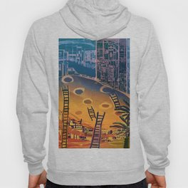 Time through Time, from Caves to Skyscraper, from Organic to Geometric Hoody